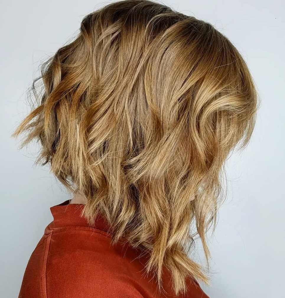 Inverted A-line Bob with Curls