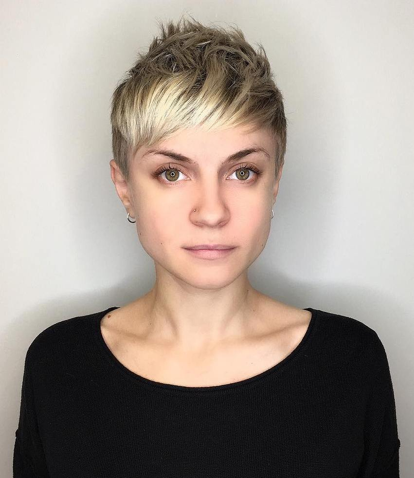 Sweet Spiky Blonde Pixie