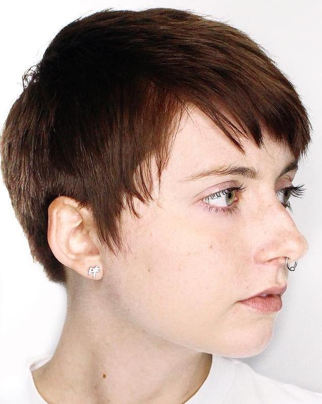 Short Sliced Pixie for Thin Hair