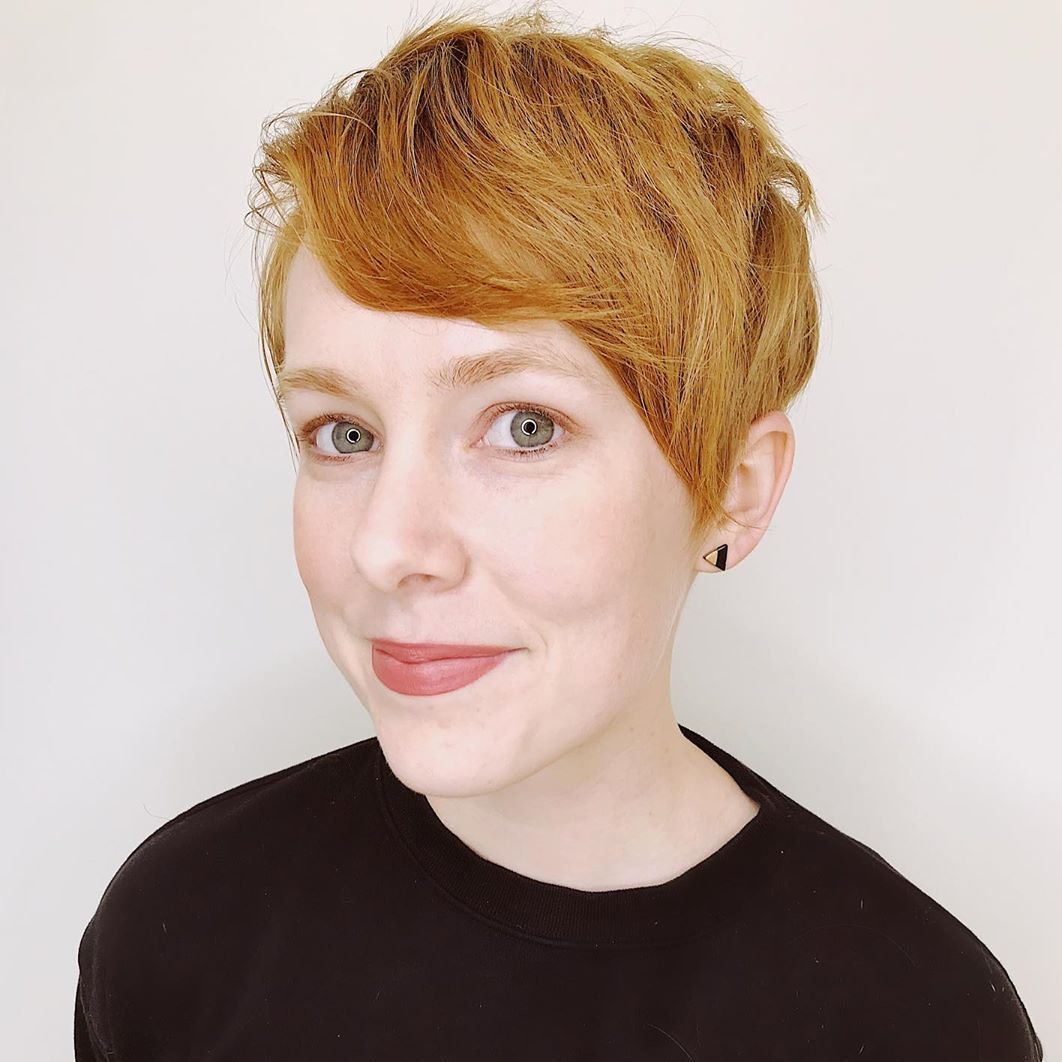 Simple Pixie with an Angled Fringe