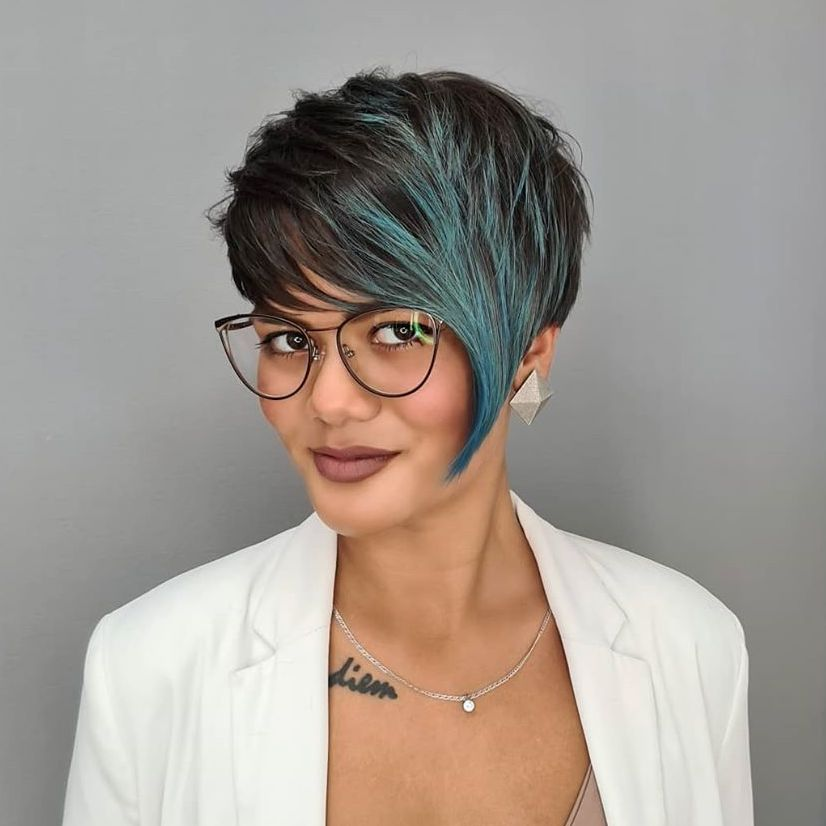 Bright Pixie with Asymmetrical Bangs