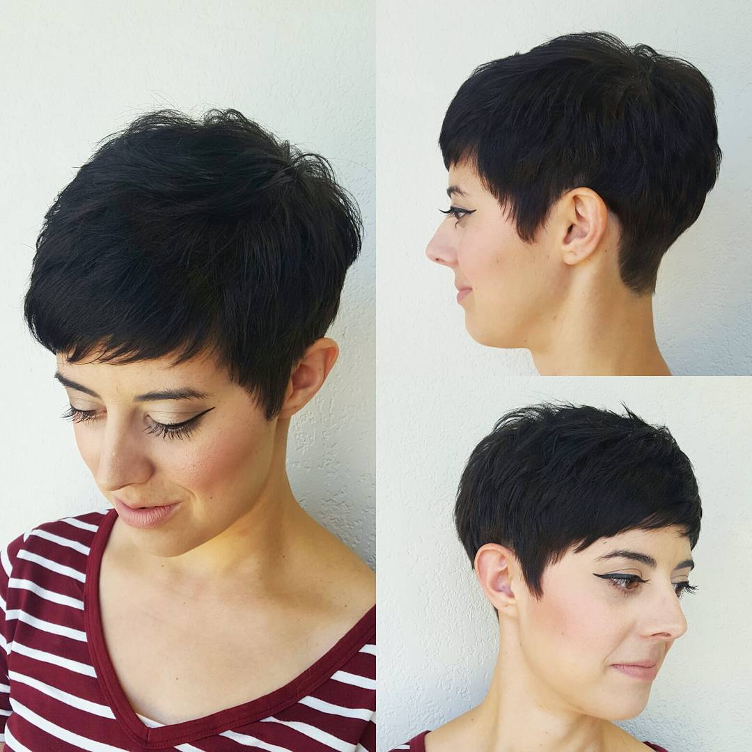 Short Tapered Pixie for Thick Hair
