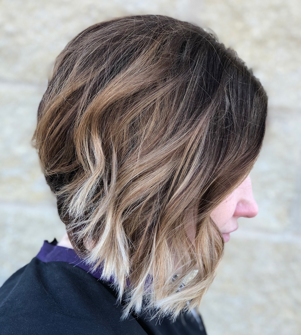 Inverted Ombre Lob