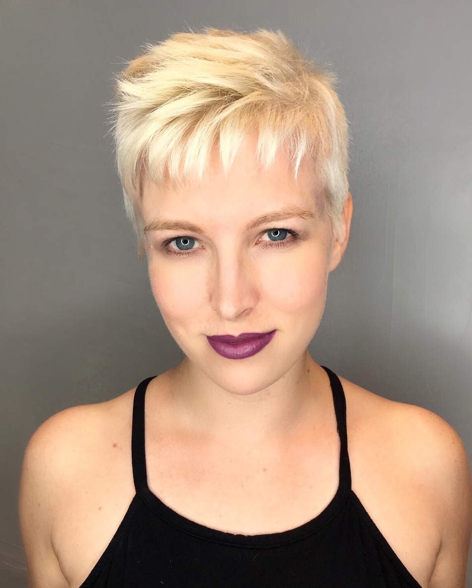 Short Blonde Choppy Pixie