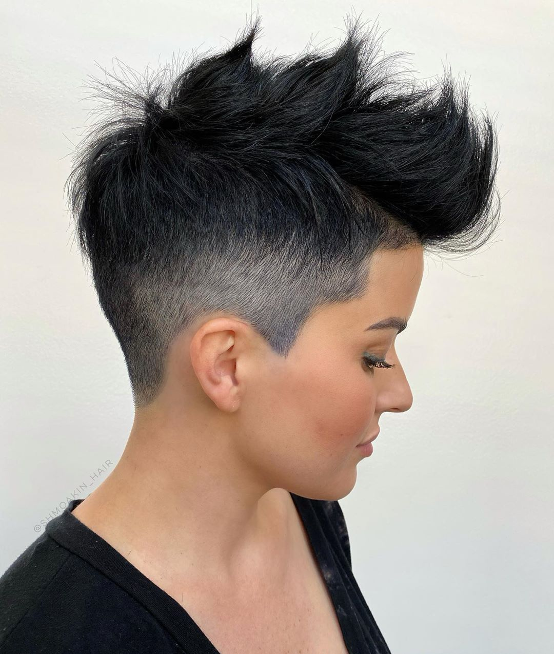 Undercut Pixie with Pompadour Bangs