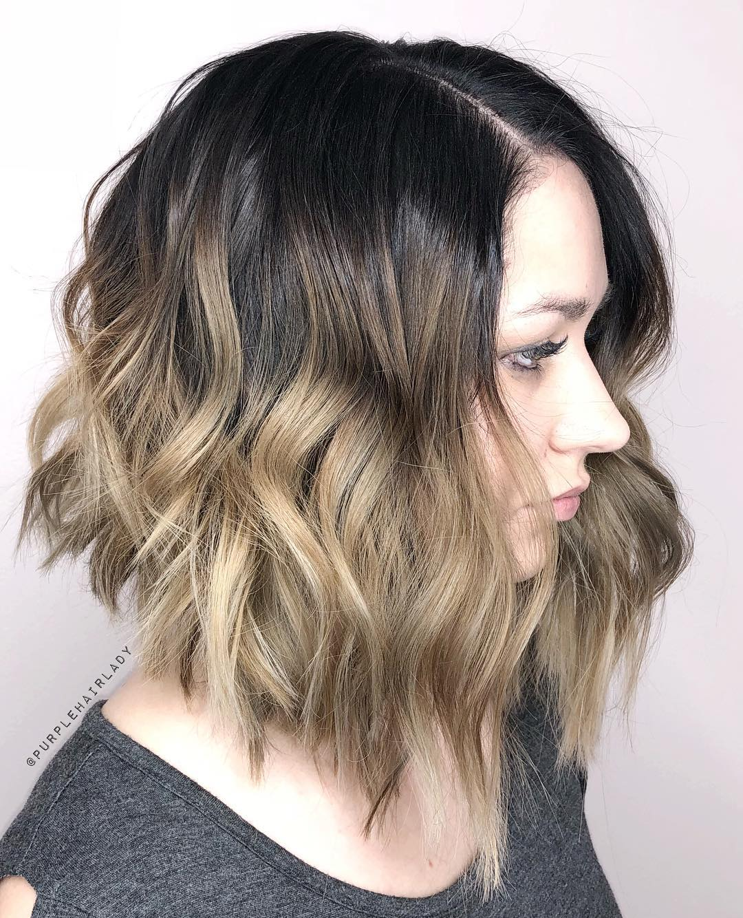 A-Line Bob with Ombre Highlights