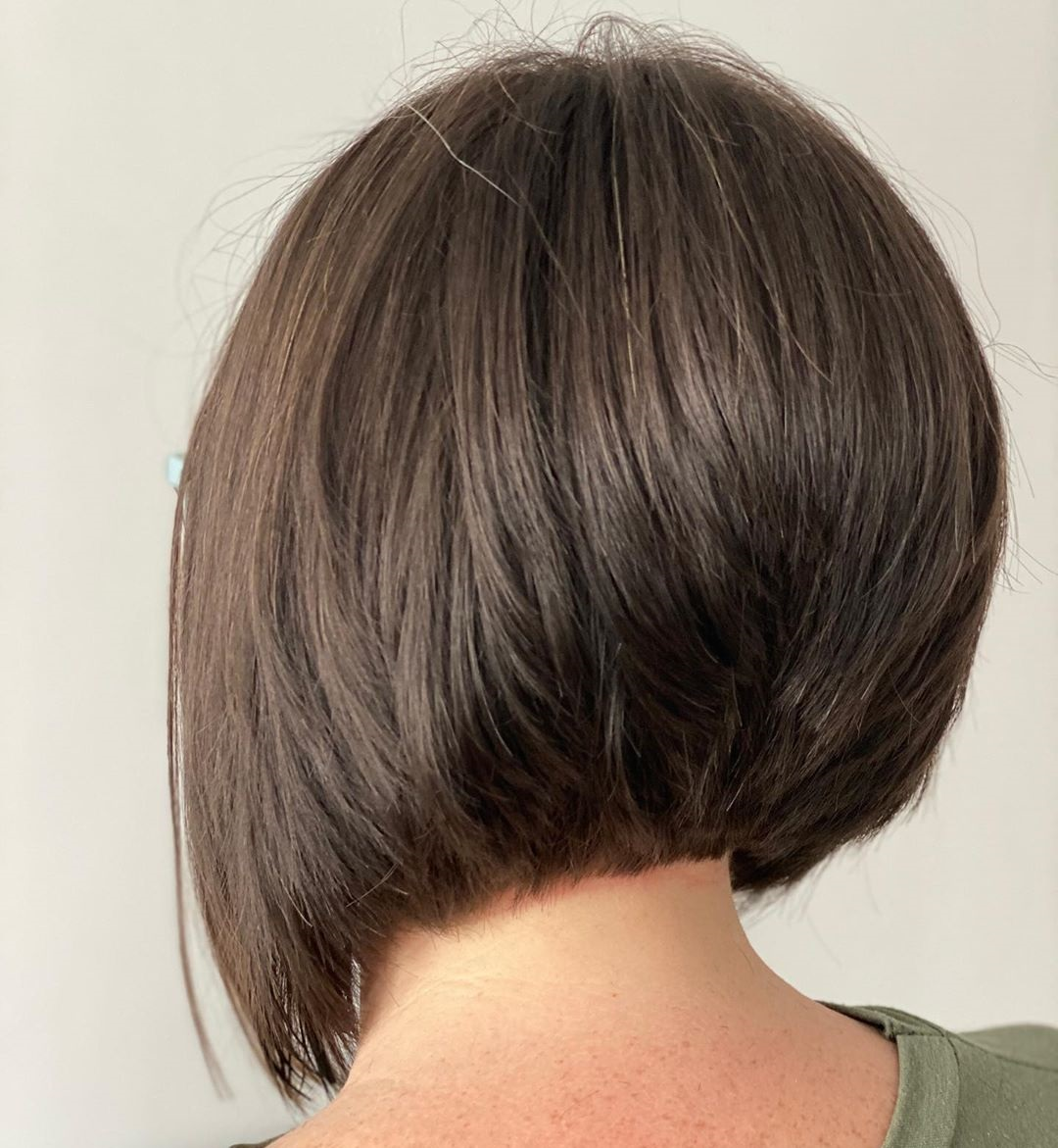 Soft Brown Inverted Bob
