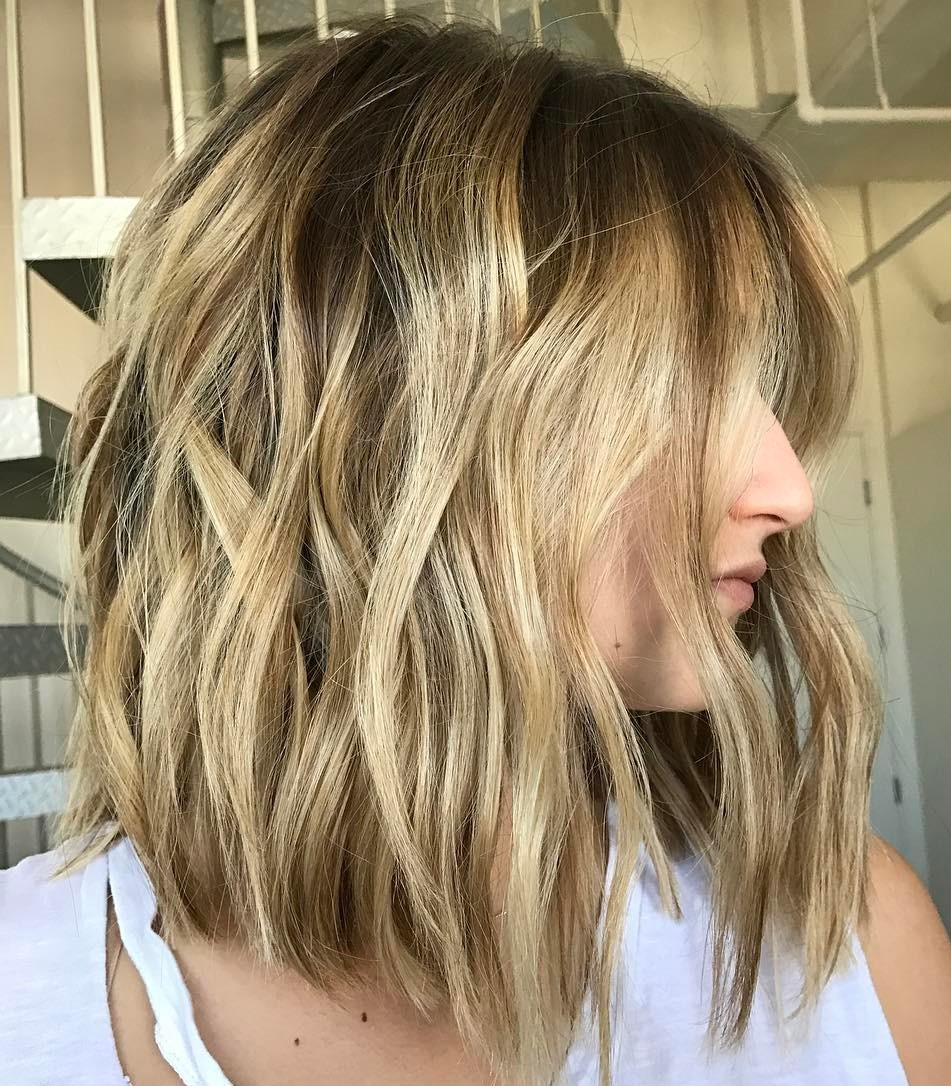 Beachy Lob with Barely There Wave