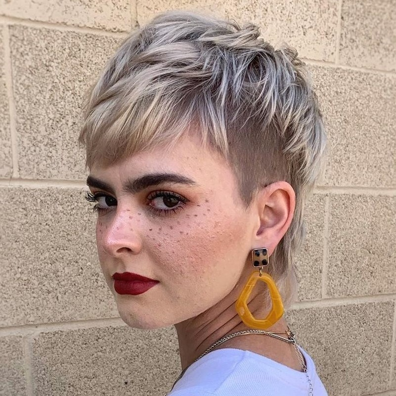 Cute Undercut Pixie with a Fringe