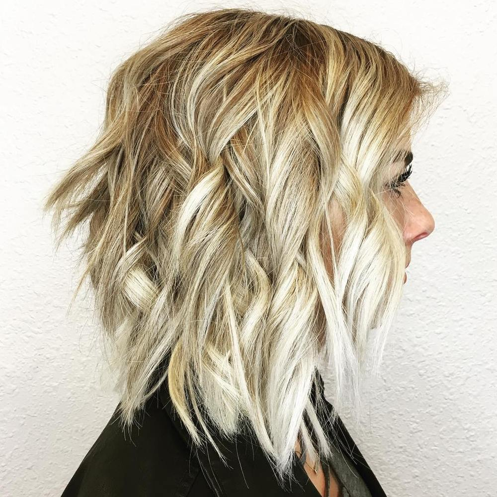 Long Beachy Blonde Bob
