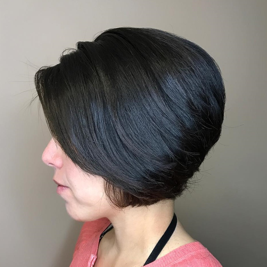 Stacked Bob with Black Balayage