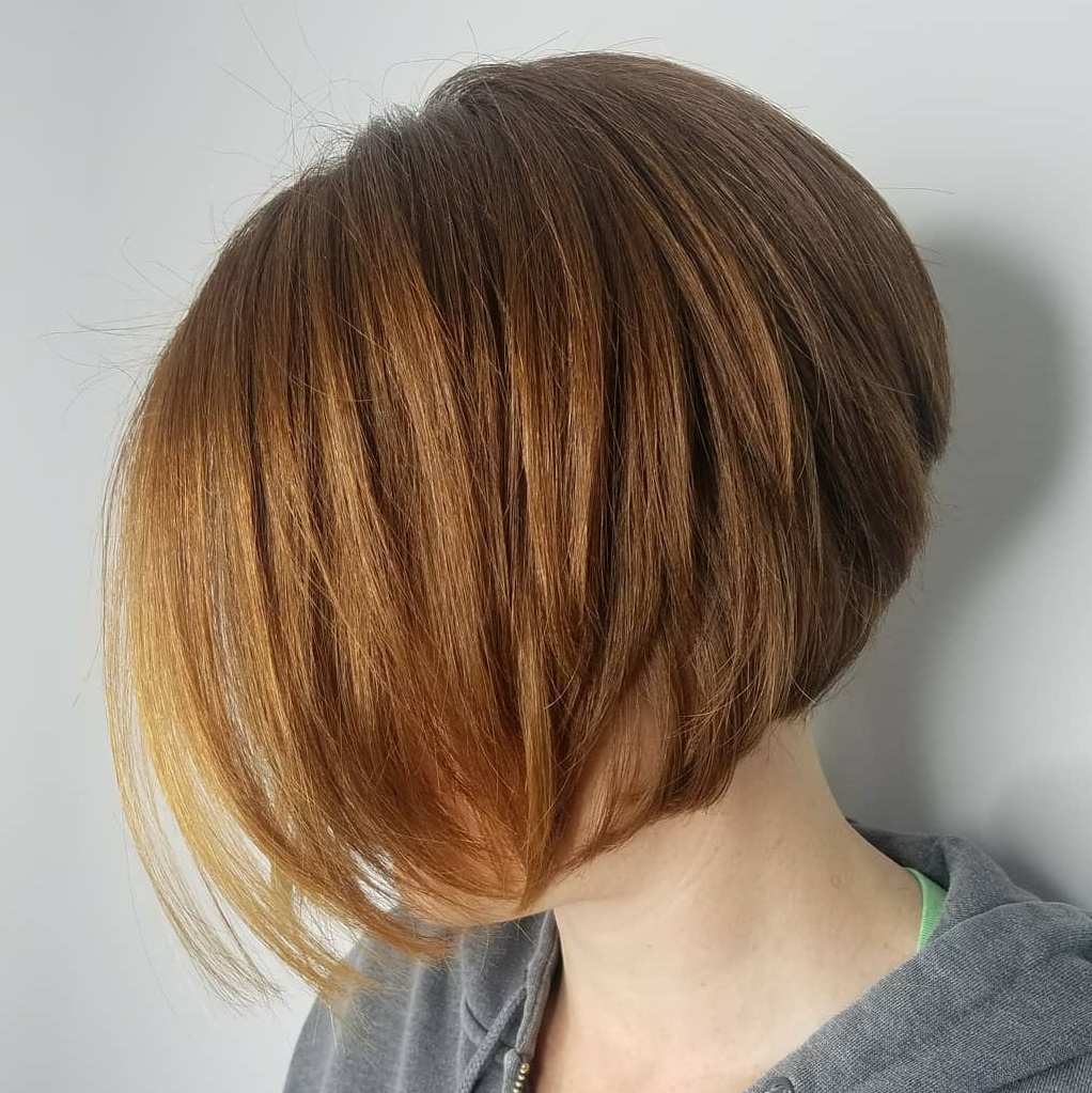 Inverted Ginger Red Bob