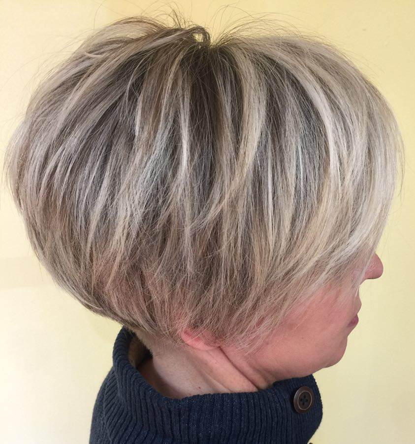 Short Tapered Bob Over 40