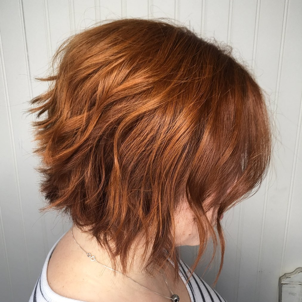 Wavy Choppy Stacked Bob