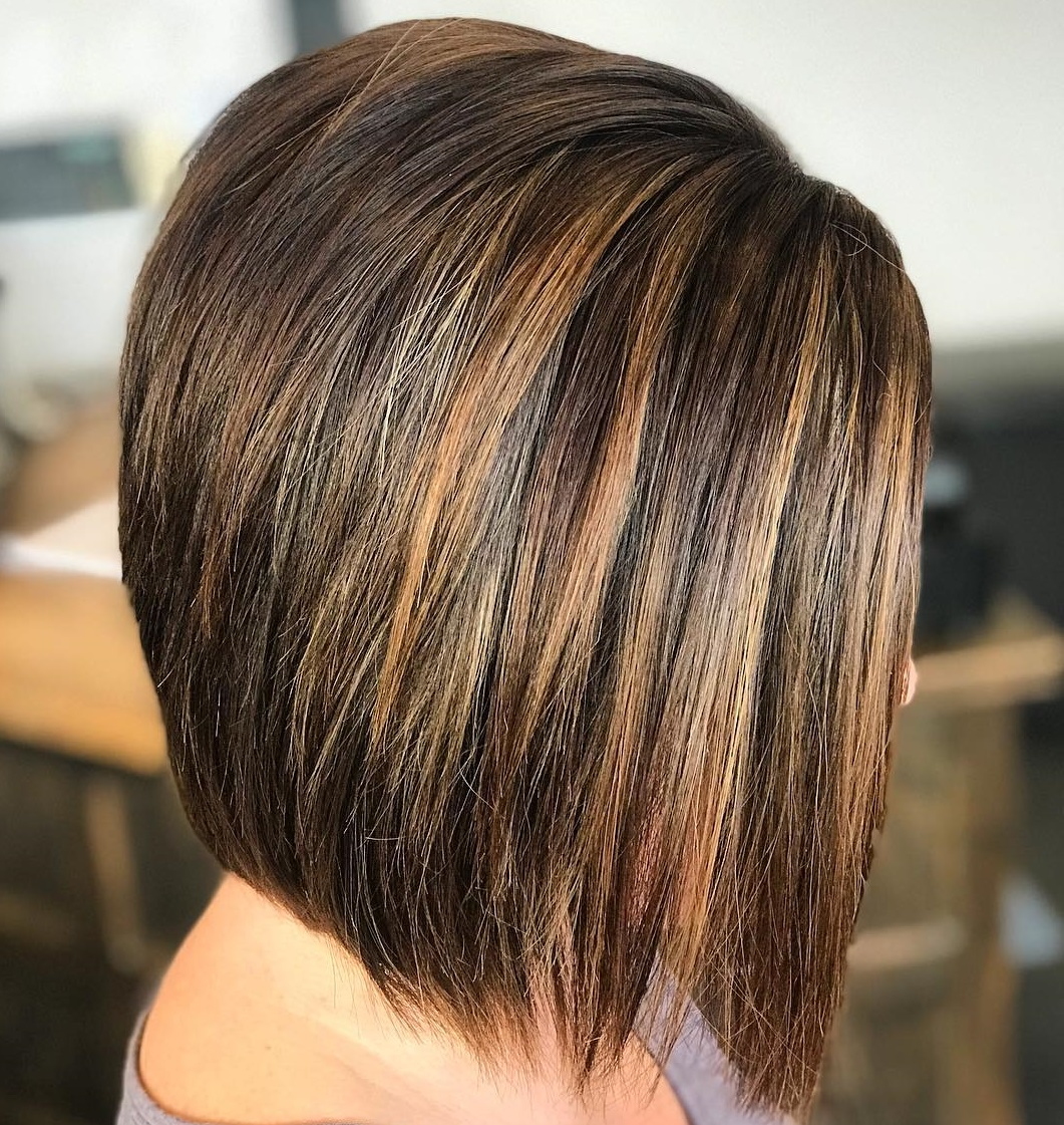 Chocolate Bob with Copper Highlights