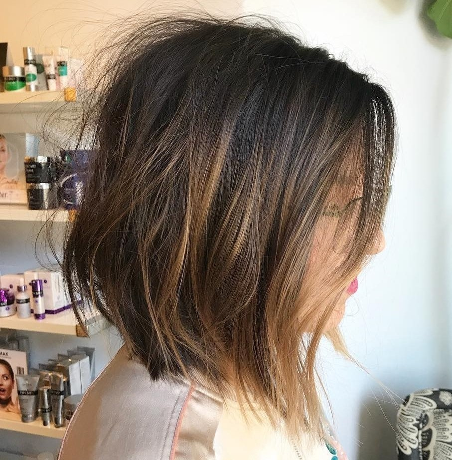 Tousled Bob with Subtle Highlights
