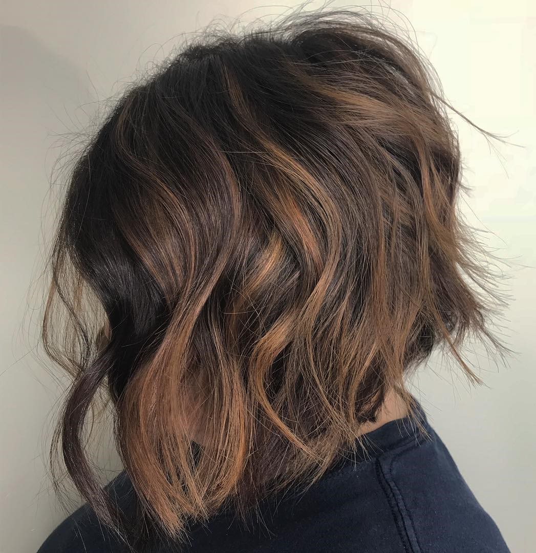 Tousled Inverted Bob with Uneven Layers