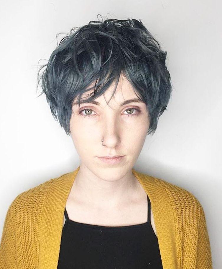 Tousled Dark Turquoise Pixie