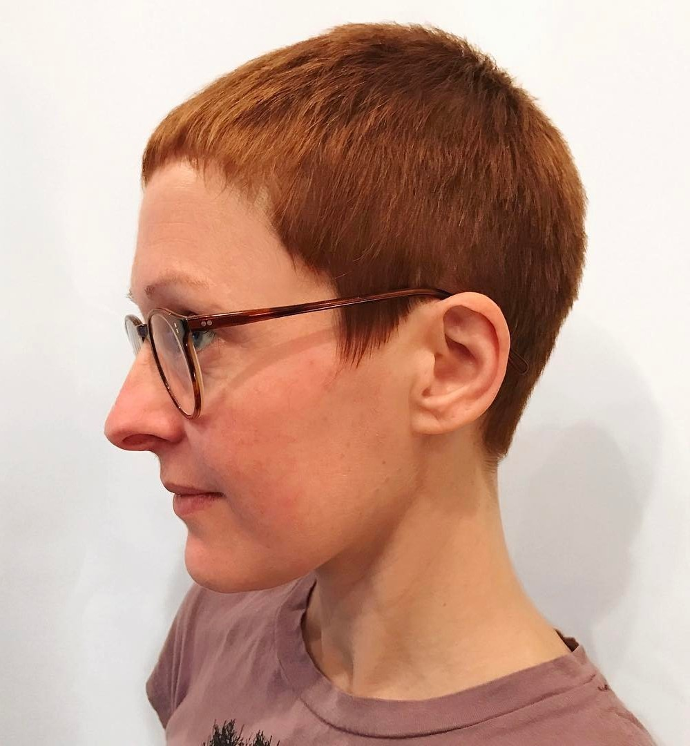 Very Short Ginger Red Pixie