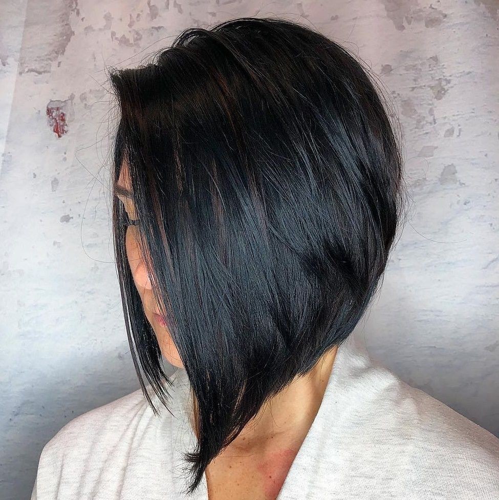 Sleek Black Inverted Bob