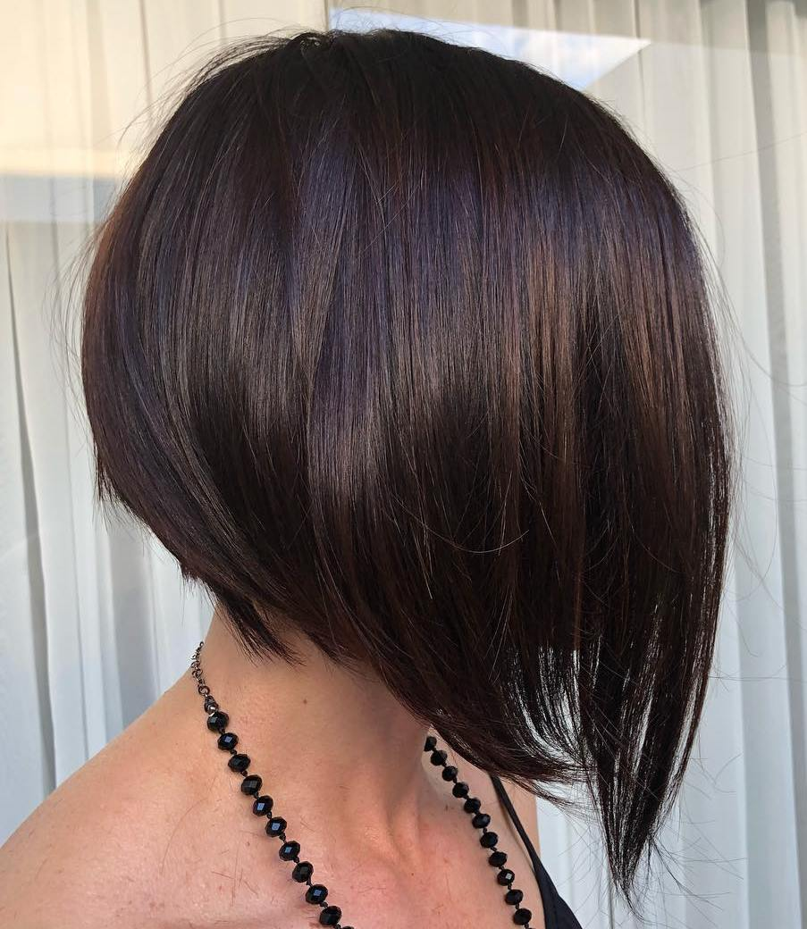 Chocolate Bob with Uneven Ends