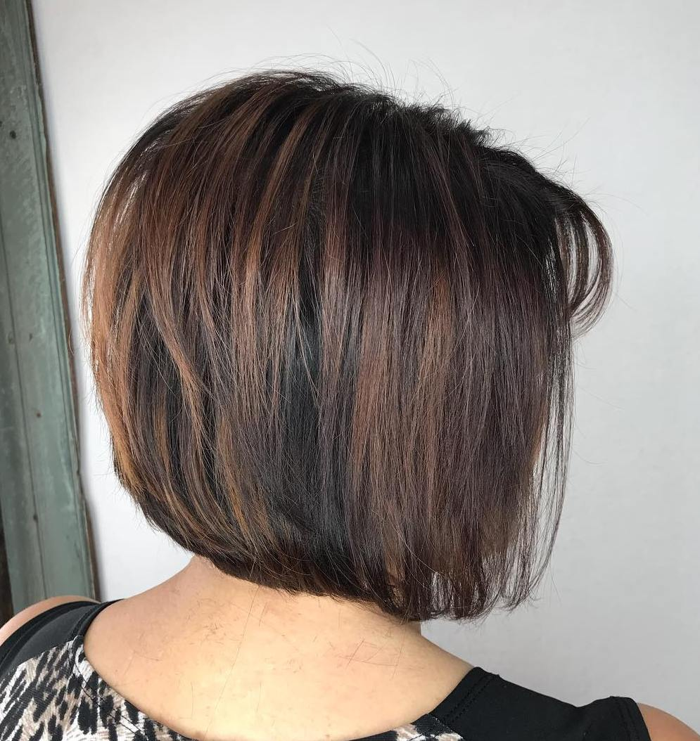 Layered Brunette Bob for Thin Hair