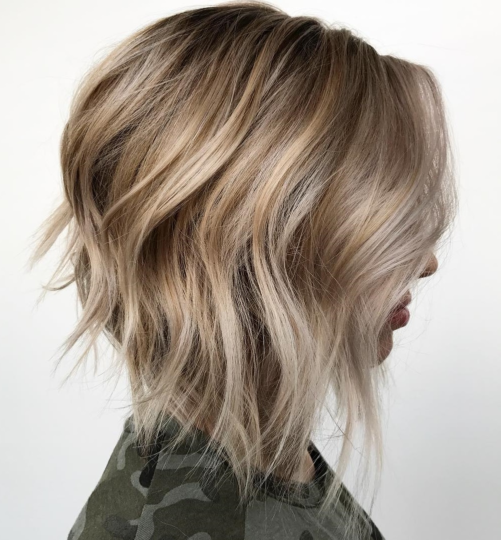A-line Bob with Waves and Highlights
