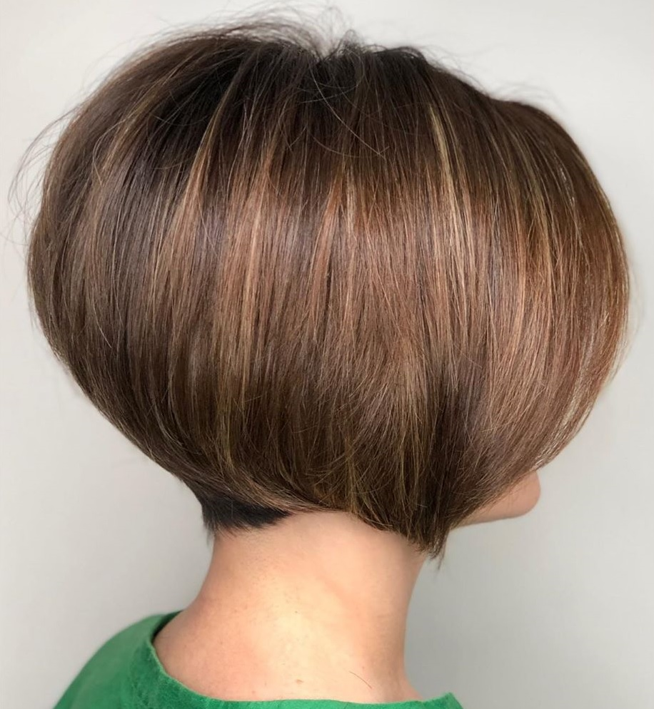 Short Straight Stacked Bob