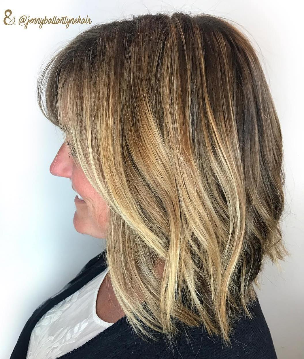 Youthful Long Cut with Waves