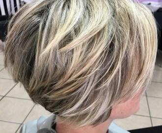 Piece-y Choppy Straight Blonde Bob