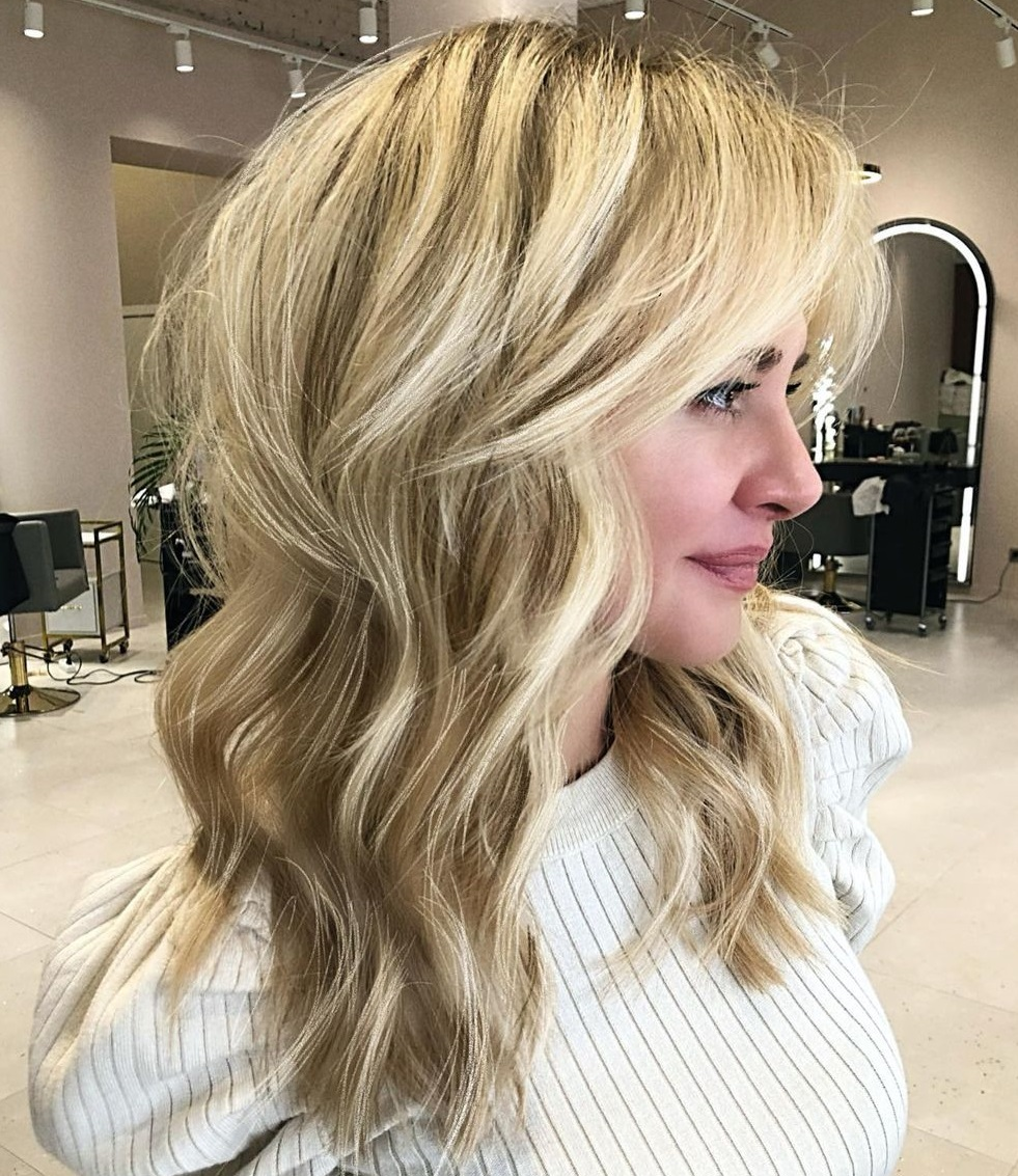 Two-Tier Cut for Thick Wavy Hair