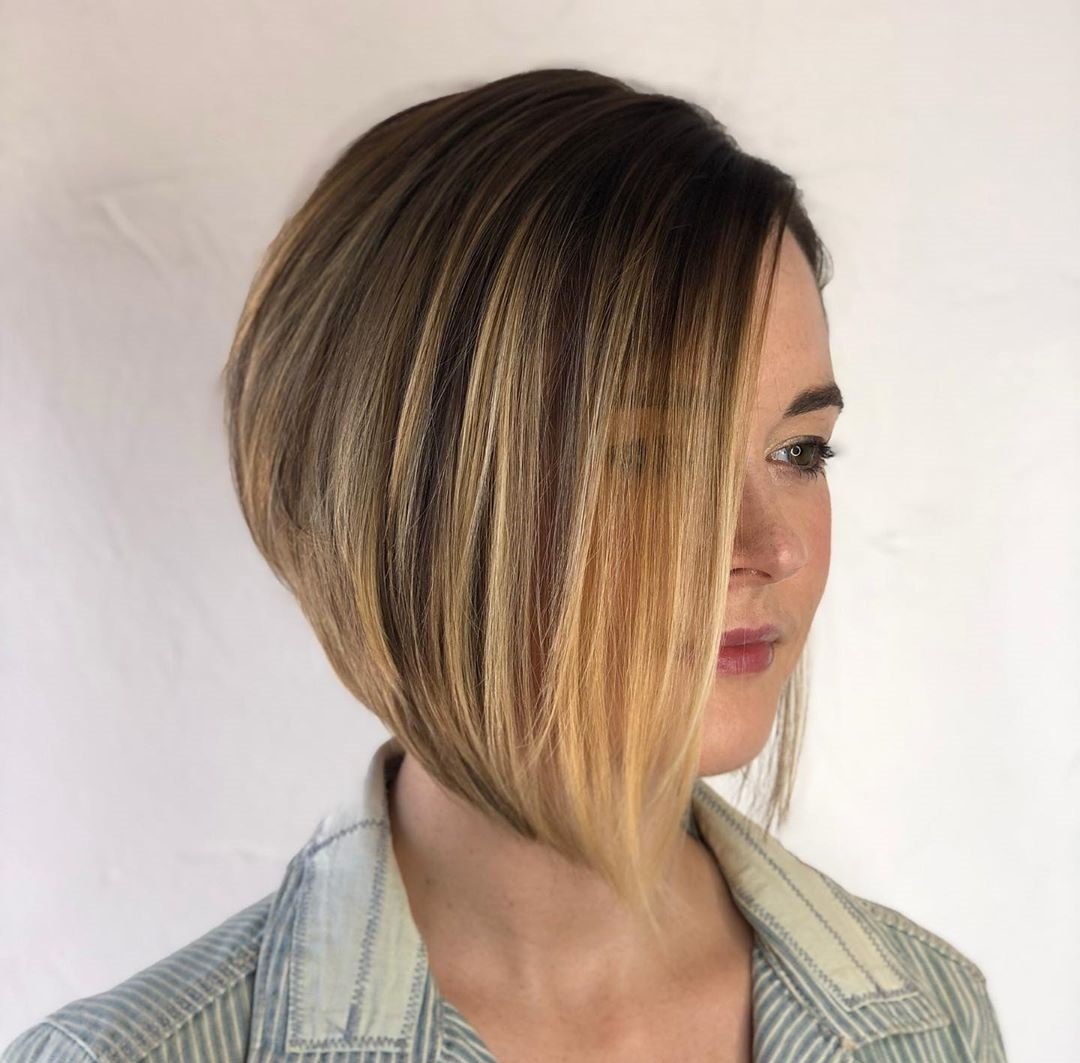 Multi-Toned Short Stacked Bob