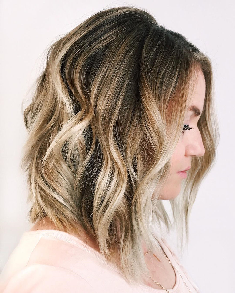 Honey Bronde Balayage Lob