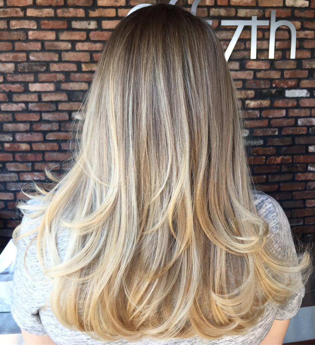 Two-Layer Blonde Balayage Hairstyle