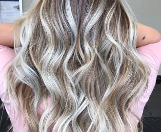 White and Silver Highlights for Brown Blonde Hair