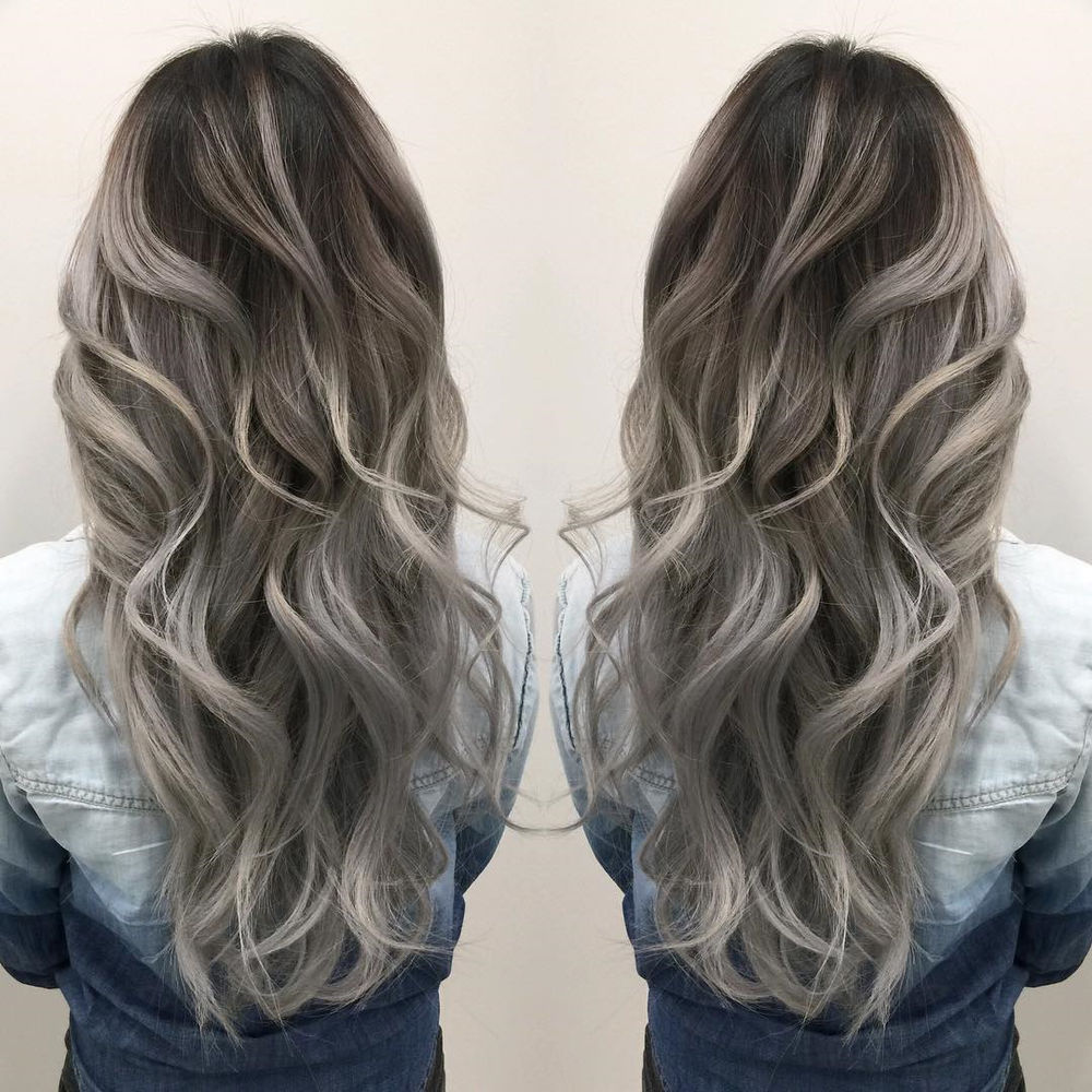 Silver Highlights for Curly Brown Hair