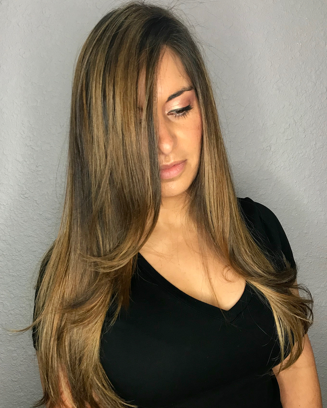 Long Hair with Thick Highlights and Layers