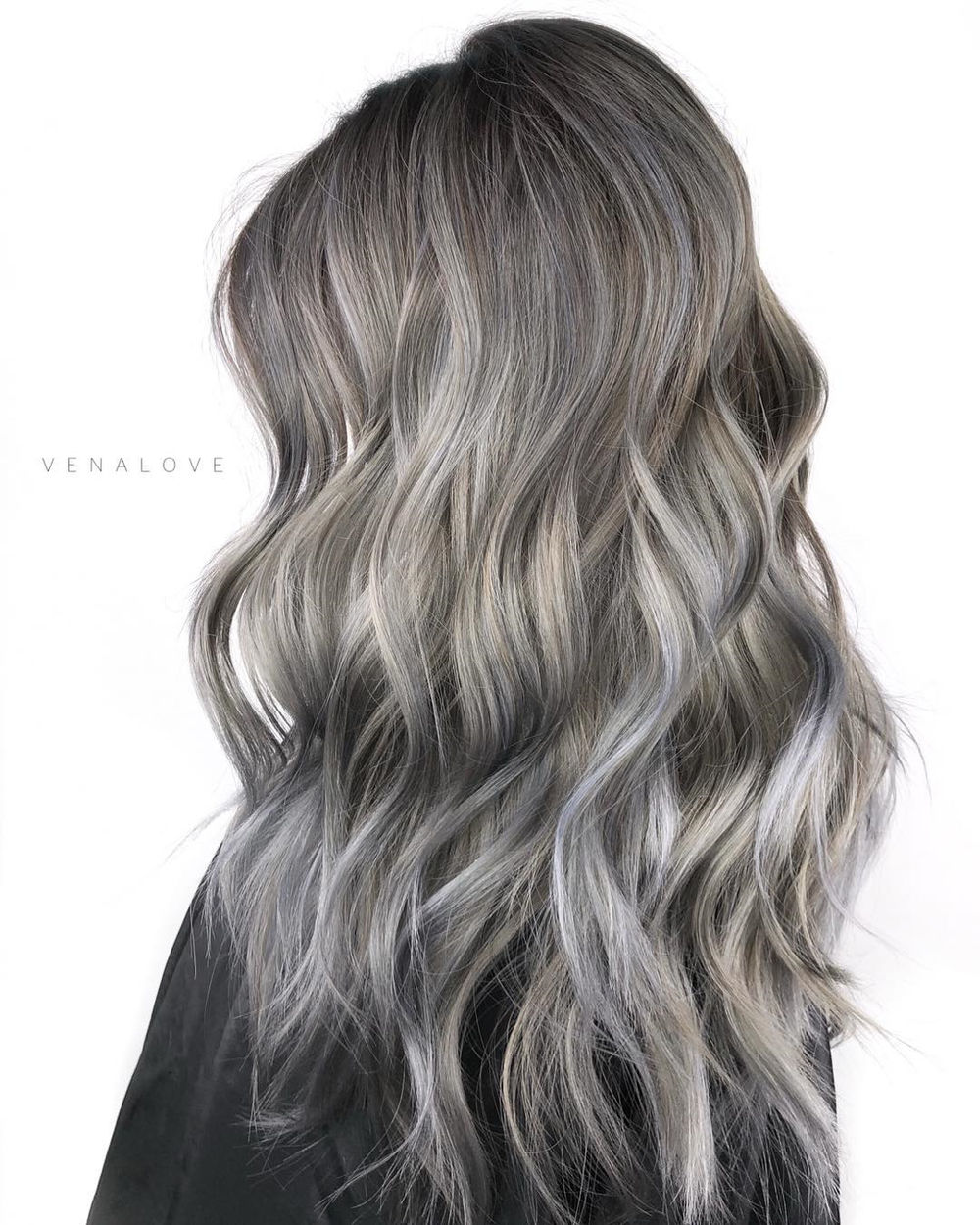 Gray Brown Balayage Blend