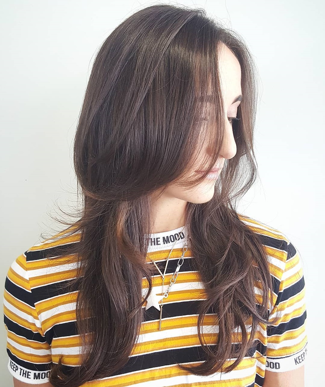 Long Tousled Hair with Uneven Layers