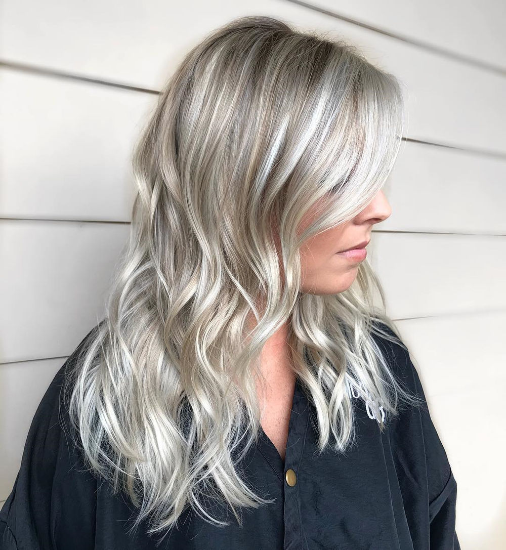 Ash Blonde Hair with White Blonde Highlights