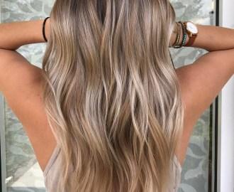 Pearl Blonde Color Melt Hair