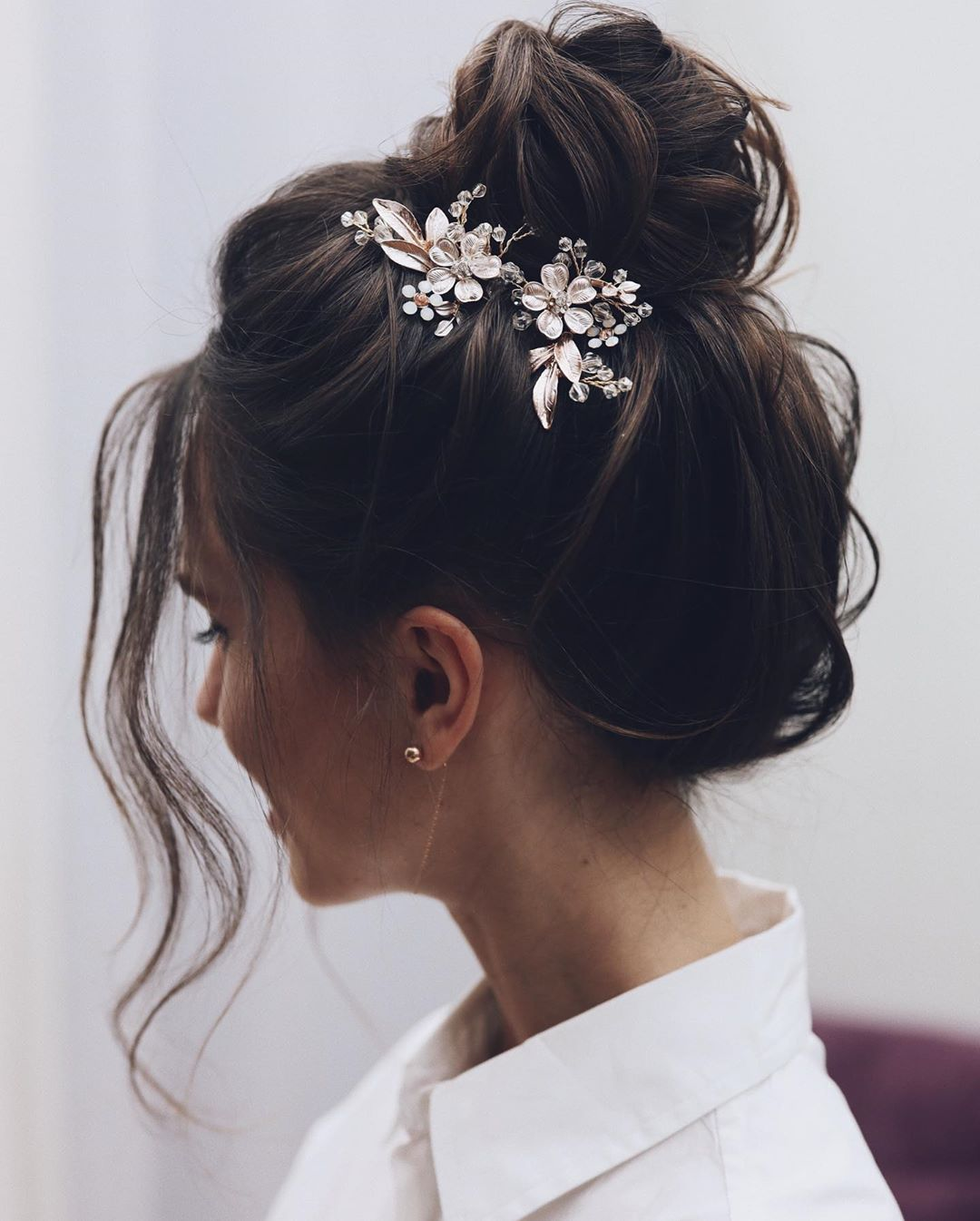 Bun Hairstyle for a Small Face
