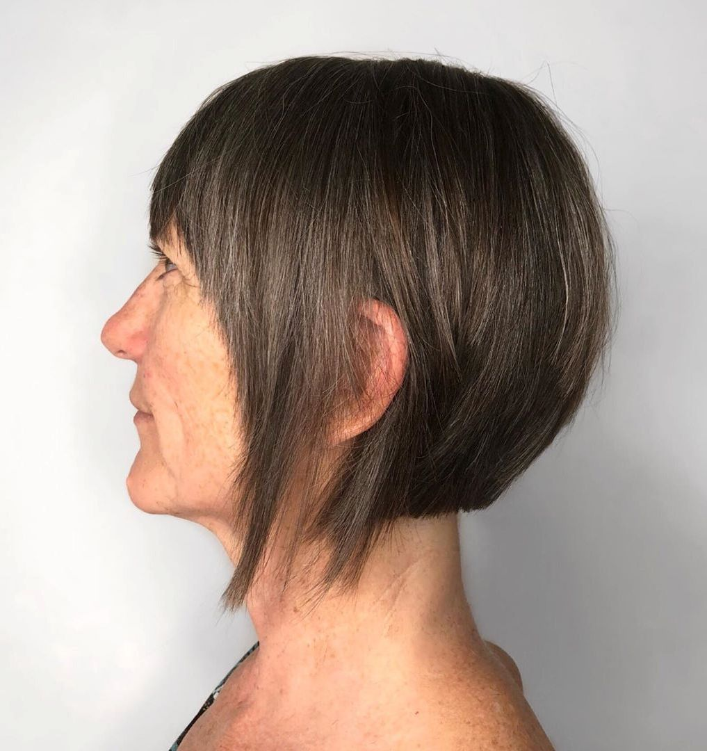 Short Layered Bob Haircuts For Older Women 25
