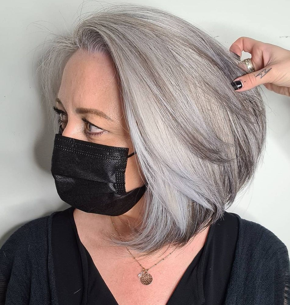 Silver Hair Color for Women Over 50