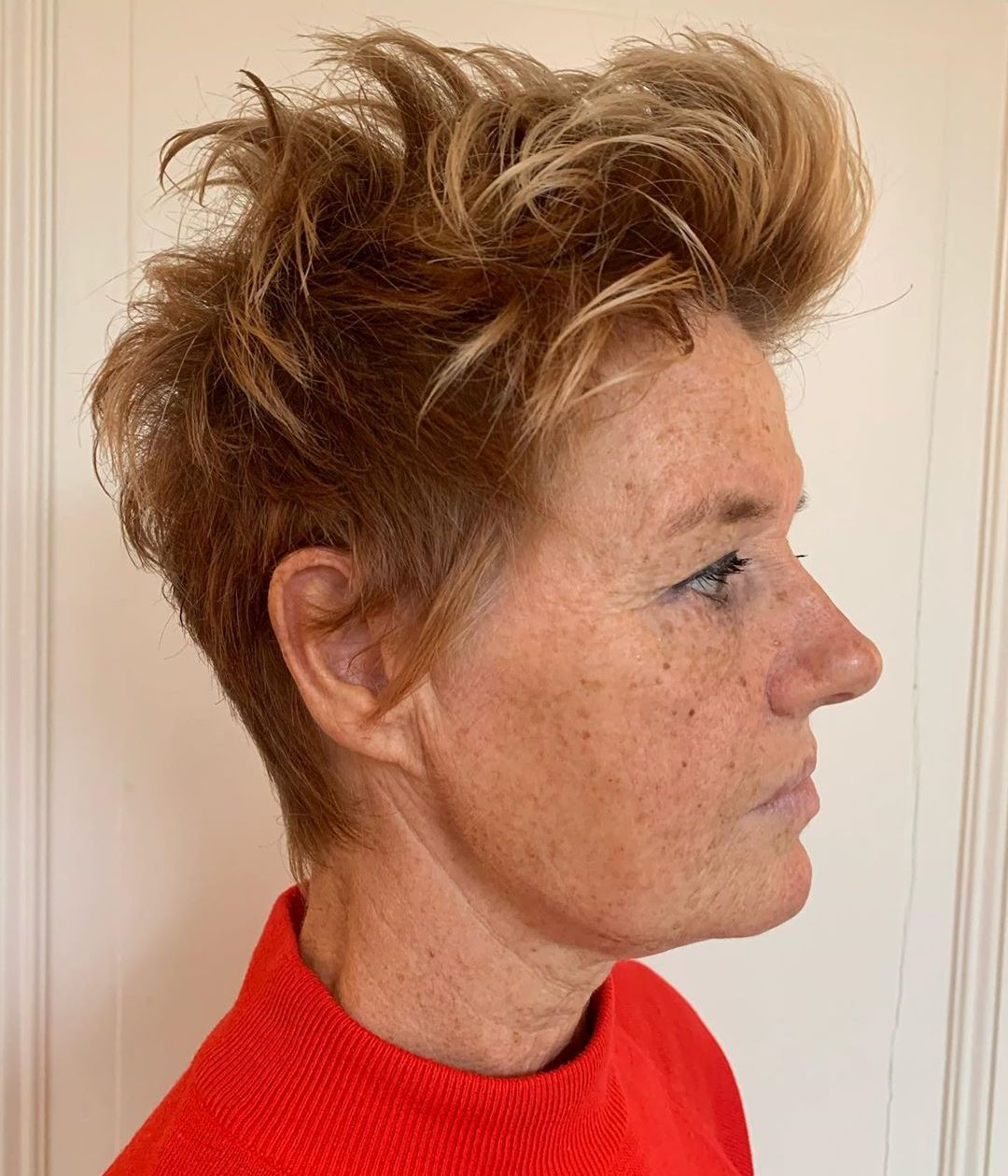 60 and Older Short Spiky Hairstyle