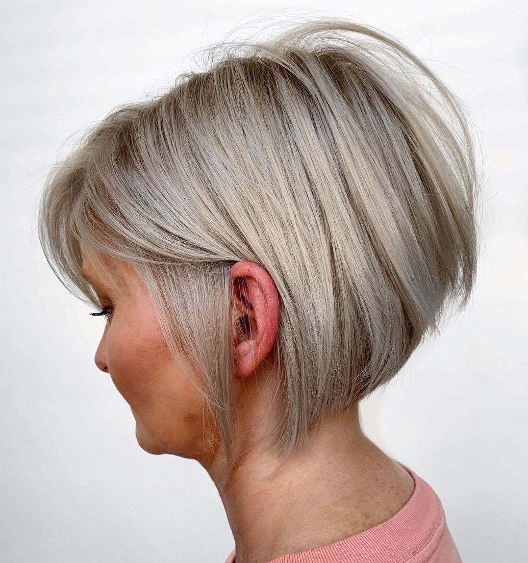 Ash Blonde Hair for Older Ladies