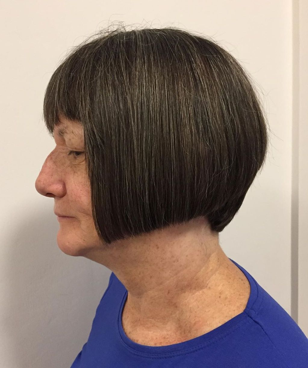 Short Blunt Cut for Women in Their 60s