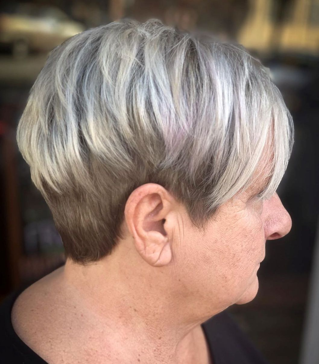 Undercut Hairstyle with Silver Top