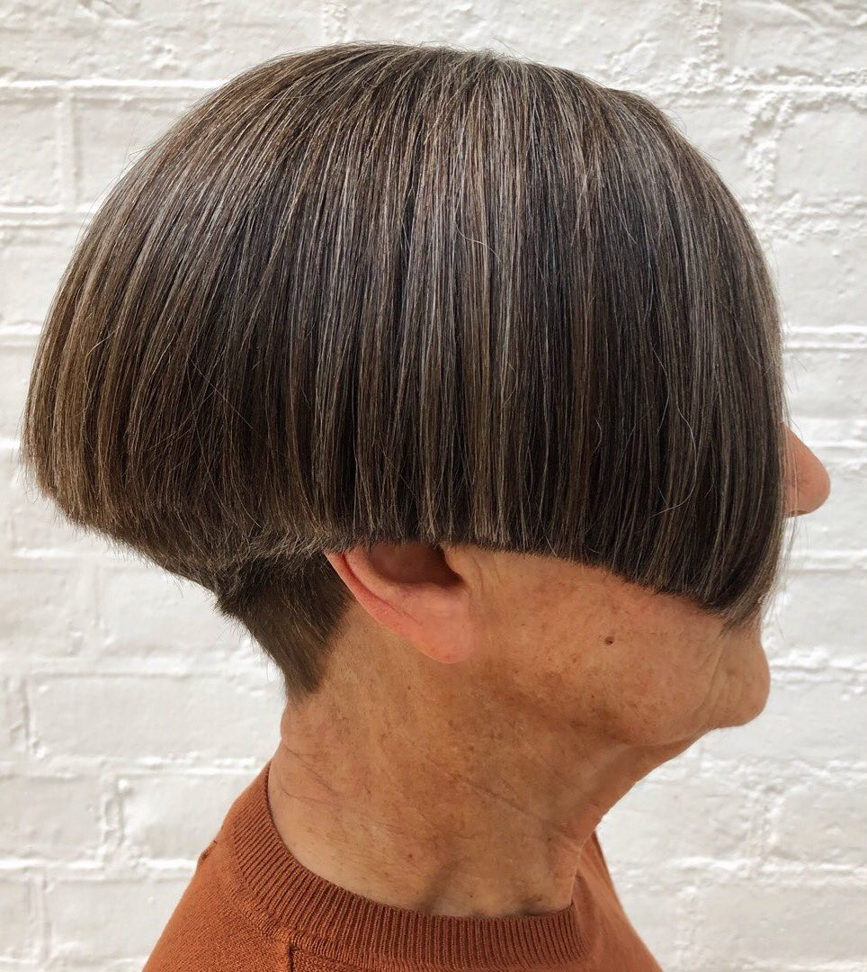 Short Blunt Cut for 60 Year Old Woman