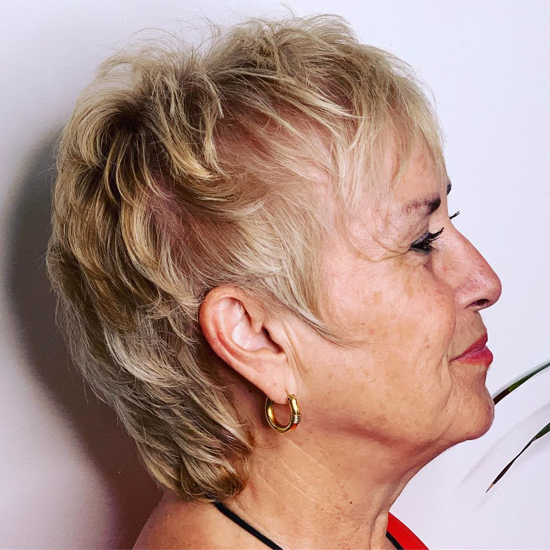 Short Hairstyle for Women in Their 60s